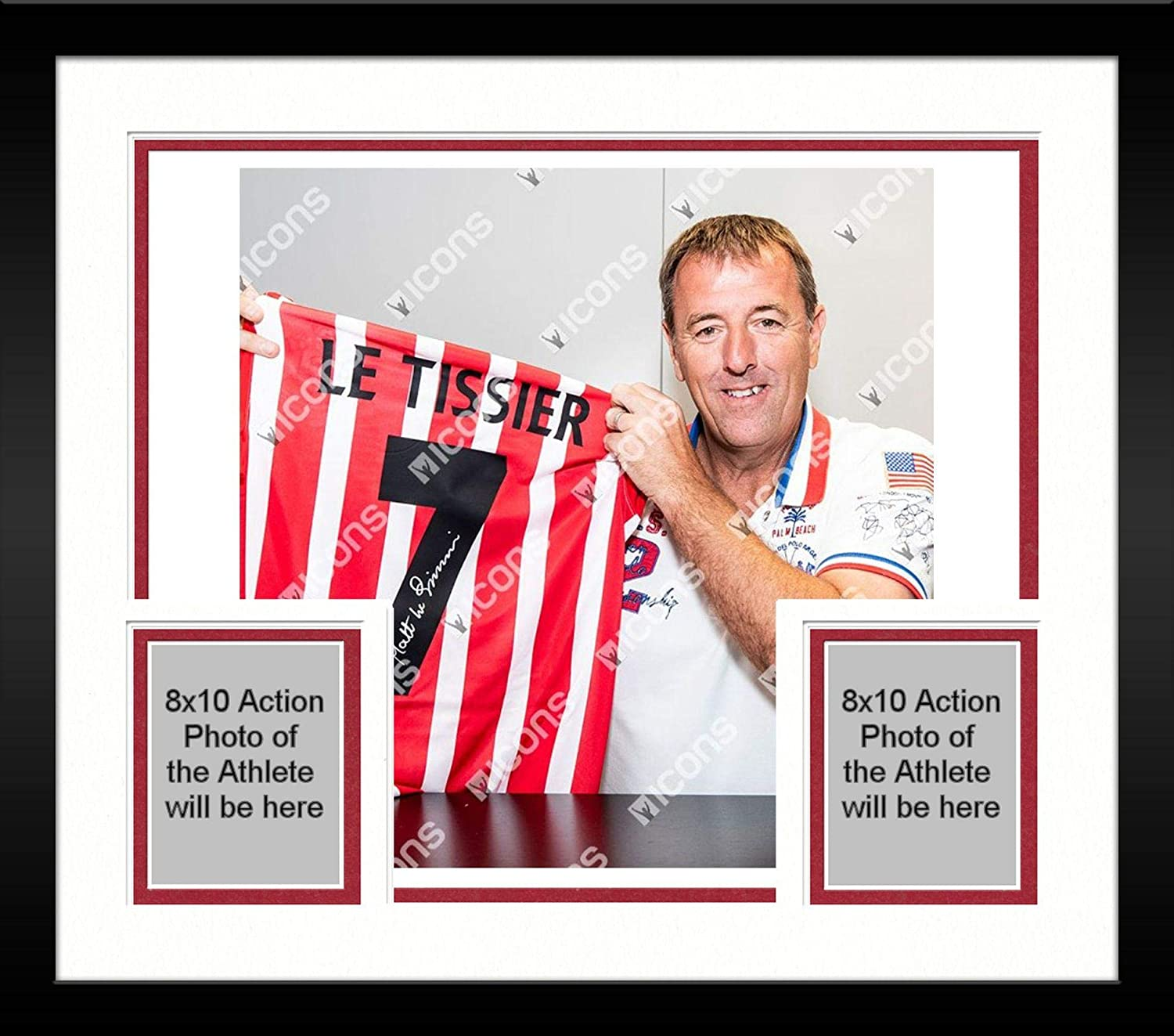 4d647dfa1 Framed Matt Le Tissier Southampton Autographed Red   White Home Jersey -  ICONS - Fanatics Authentic Certified at Amazon s Sports Collectibles Store