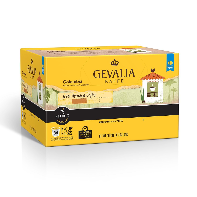 Gevalia Colombia K-Cup Packs - 84 count, Medium Roast