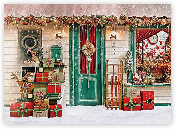 FUERMOR Christmas Tree Photography Backdrop 7x5ft Merry Xmas Photo Background Wall Hanging Props DSFU166