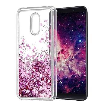 Wanxideng Funda Xiaomi Redmi 5 Plus, Funda de Silicona TPU, Carcasa Suave Transparente con Glitter Líquido & Corazón Flotante - Liquid Quicksand Case ...