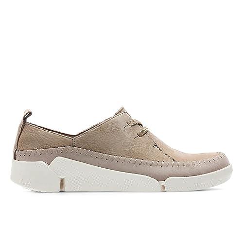 Para Zapatos De Tri Cordones Mujer Beige Clarks Angel Piel E29IDWYH