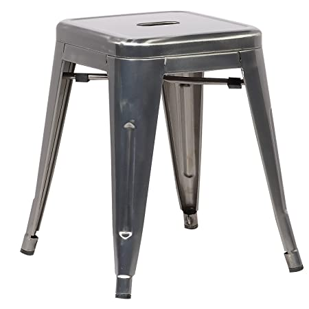Poly and Bark Trattoria 18 Stool in Polished Gunmetal