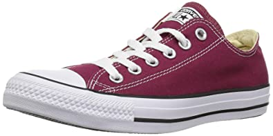 7fa276056b3c4 Image Unavailable. Image not available for. Color  Converse Chuck Taylor Allstar  Ox Unisex Trainers Maroon ...