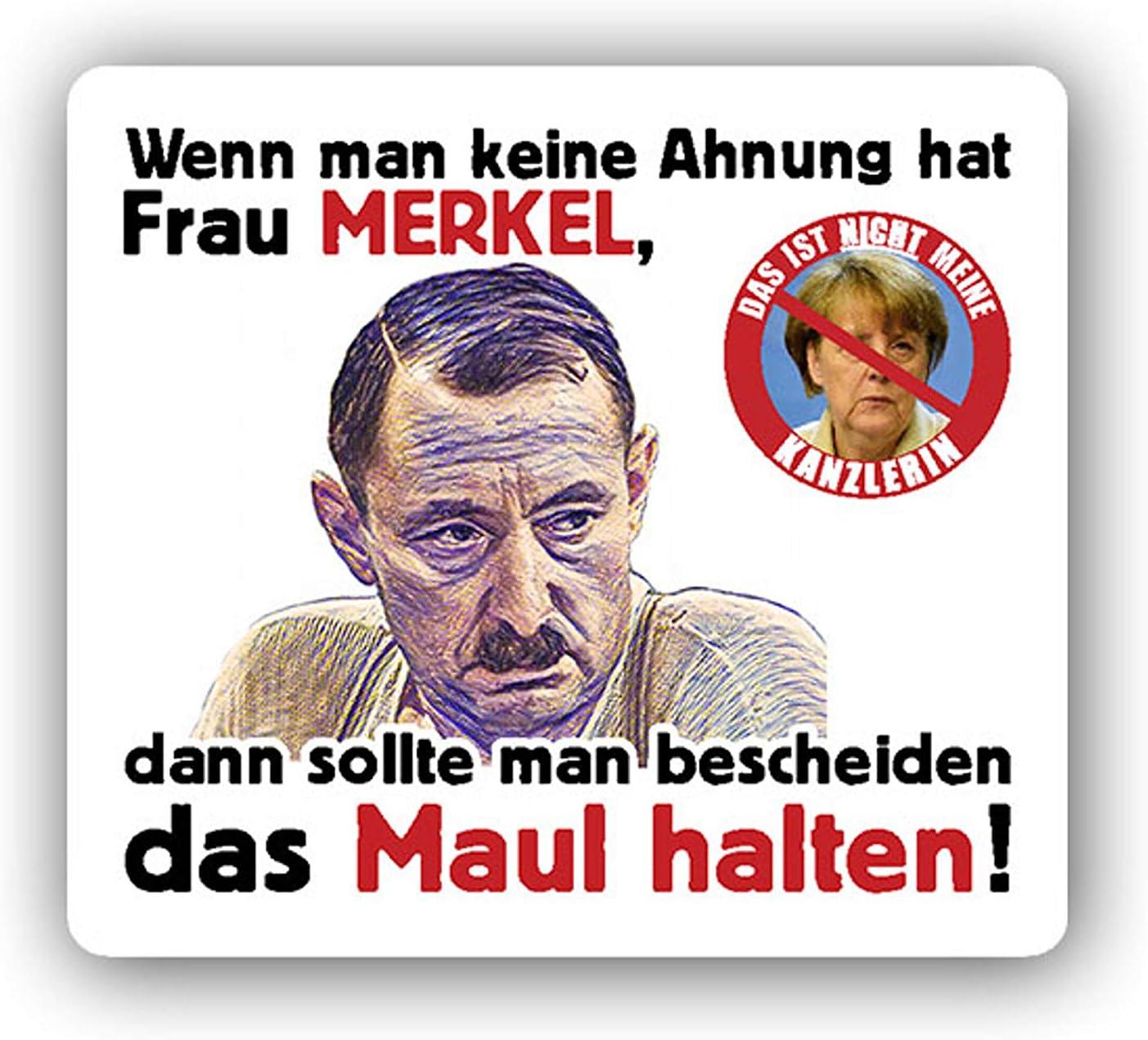 Aufkleber Sticker Alfred Tetzlaff Merkel Maul Halten Protest Demo 6x7cm A3911 Auto