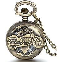 Reloj de Bolsillo para Hombre, Estilo Vintage, con diseño de Motocicleta, de JewelryWe - con Movimiento de Cuarzo y…
