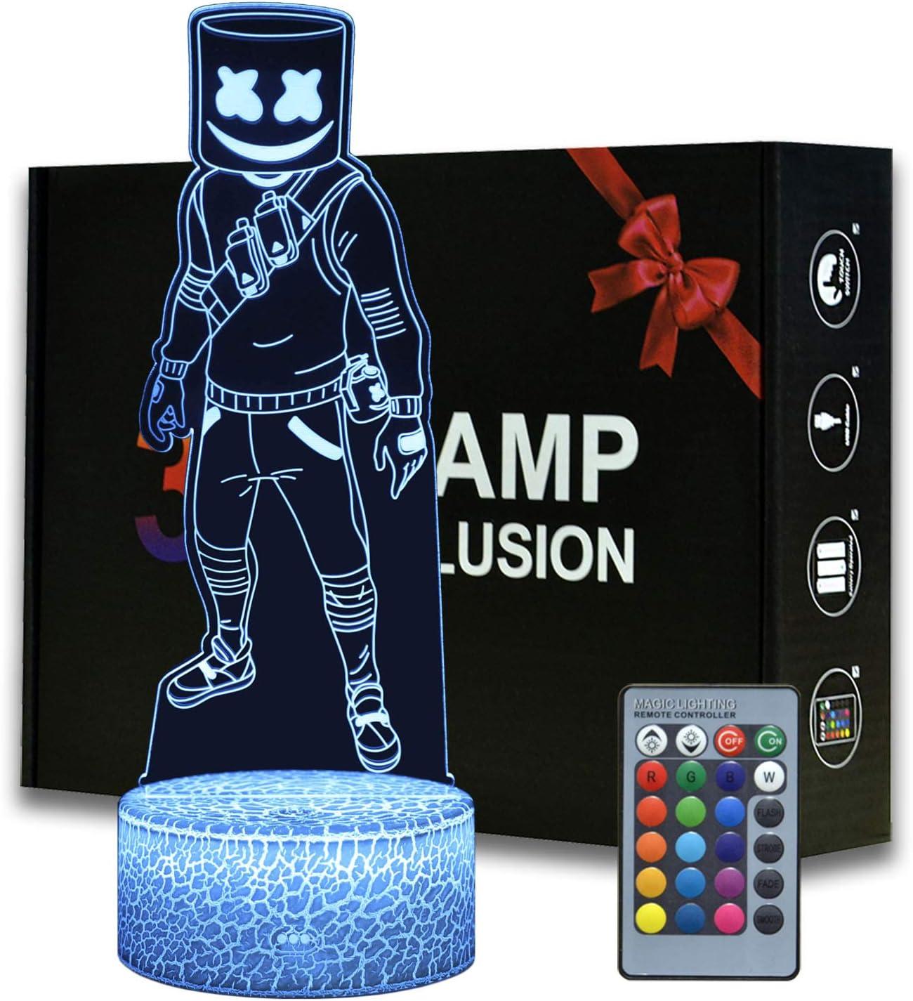 Magiclux 3D Illusion Battle Royale Luz de noche, temática de juego lámpara de mesa con mando a distancia para decoración de dormitorio, lámpara de escritorio creativa para cumpleaños