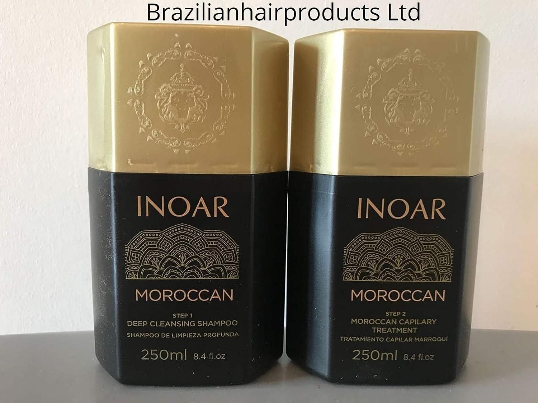INOAR Tratamiento Queratina Brasileña-Marroquí para alisamiento Capilar: Amazon.es: Belleza