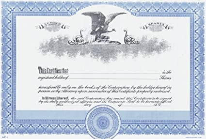 Amazon.com : Duke 3 Stock Certificates (Pack of 25) : Blank ...