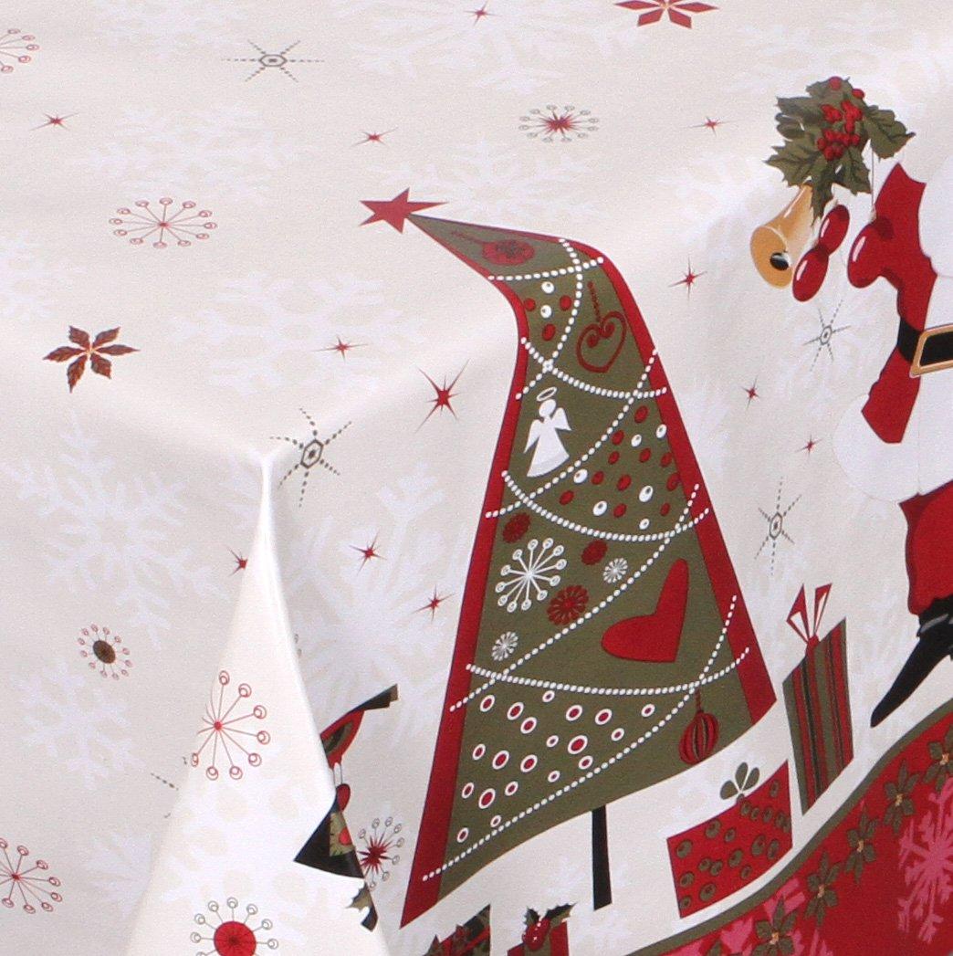 WACHSTUCH TISCHDECKE abwischbar Meterware, Größe wählbar, 800x140 cm, Glatt Weihnachten Bescherung