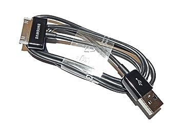 Samsung - Cable de datos para tablet Samsung Galaxy Tab 2, negro- Versión Extranjera