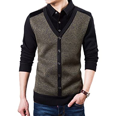409a3f9d663d HCTOO Men s Fashion Casual Shirt Knitting Pullover Sweaters for Men ...
