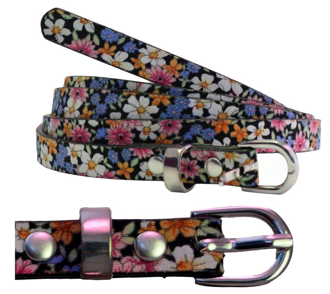 Chocolate Pickle ® New Womens Plus Size Floral Hippy Waist Thin Strap PU Patent Belts 16-30 Xclusive Plus