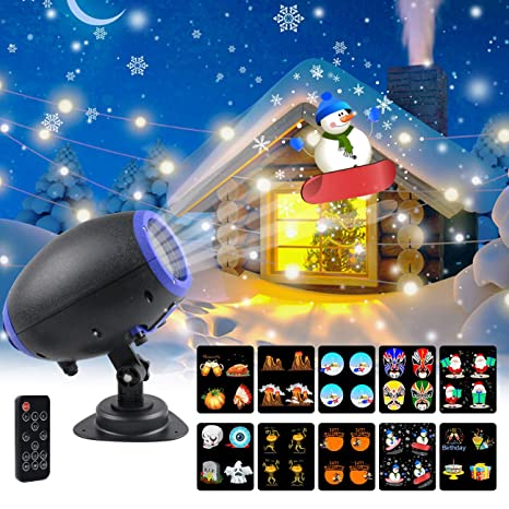 amazon com uooyoo christmas projector lights 10 slides animated