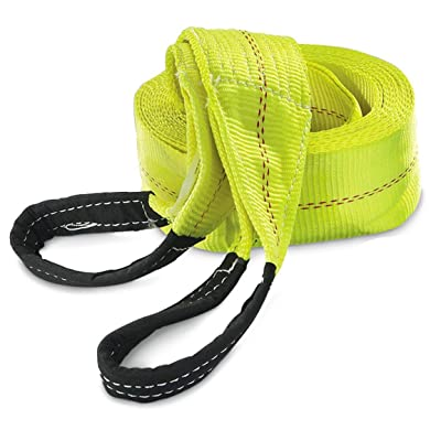 "HFS 1PC, 30ft X 3"" Recovery Strap Polyester Tow Strap Rope 7,500 LBS Working, 15,000 Breaking Capicity: Automotive"