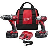 Milwaukee 2697-22 M18 18-Volt Lithium-Ion Cordless Hammer Drill/Impact Driver XC Combo Kit (2-Tool)