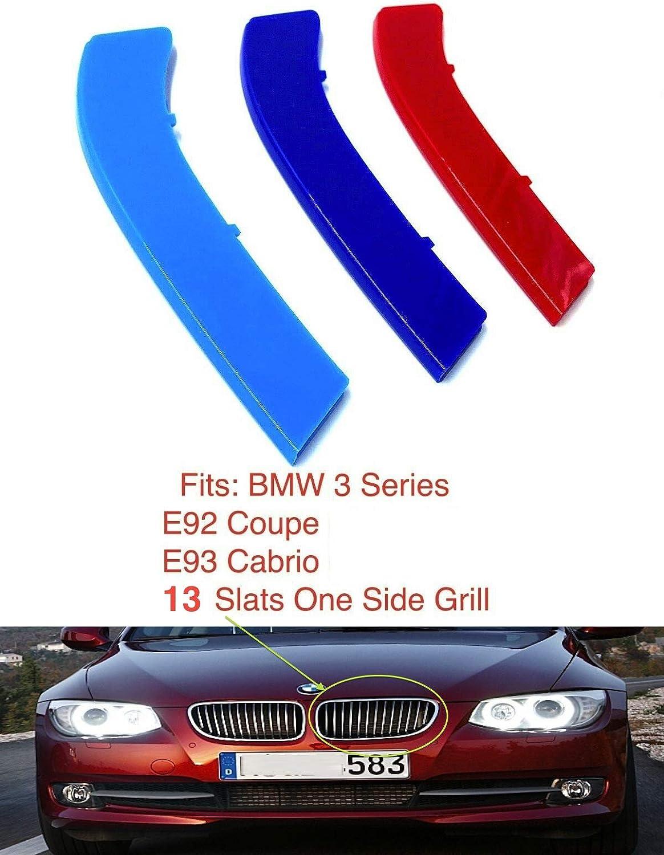 compatible with B M W X5 E70 X6 E71 E72 2006-2014 7 BARS Bonnet Hood Radiator Grill Stripes Slat Covers Inserts Trim Clips M Power Sport Performance Tech Paket Colour Grilles Caps Badge