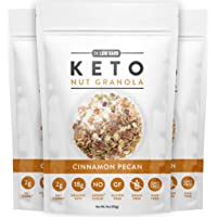 Low Karb - Keto Nut Granola Healthy Breakfast Cereal - Low Carb Snacks & Food - 2g Net Carbs - Almonds, Pecans, Coconut and more (11 oz) (1 Count) (3 Count)