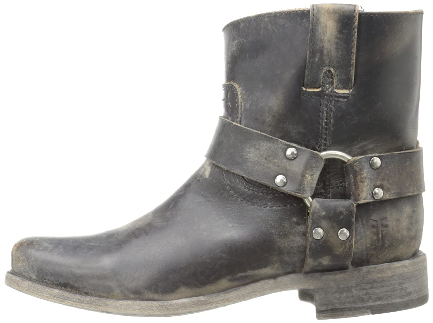 6fa09ae5a9d3 FRYE Women's Smith Harness Short Boot, Black Stone Wash, 11 M US: Buy  Online at Low Prices in India - Amazon.in