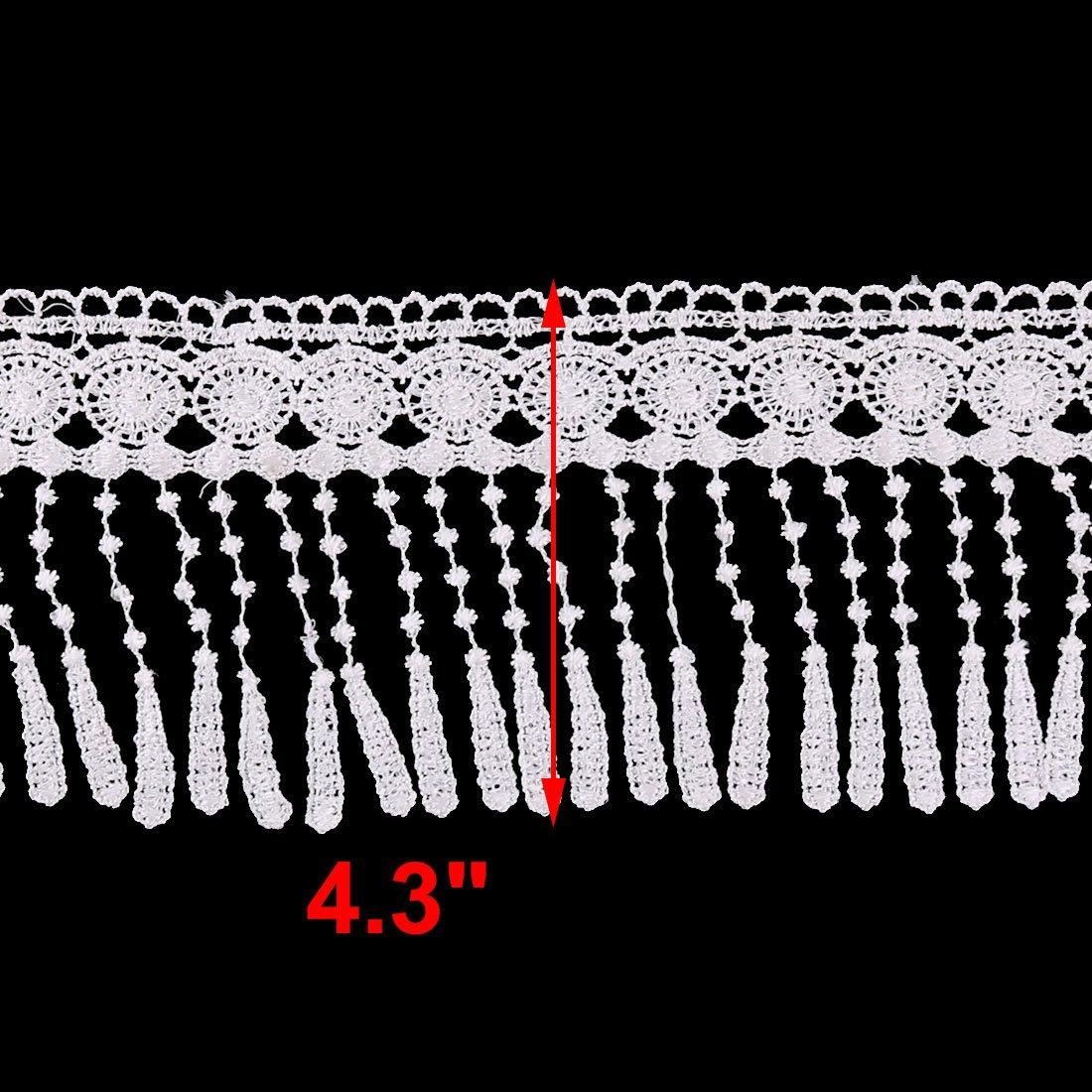 Amazon.com: DealMux poliéster Presente da família de embalagem Quilt Borda costura Decor guarnição 8.7 Yards Branco