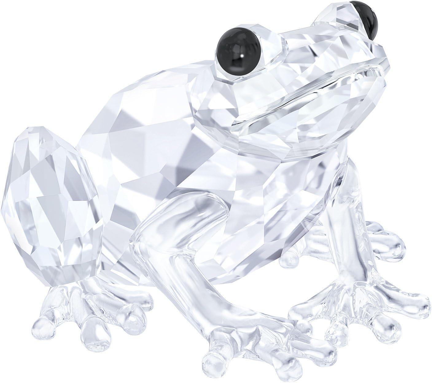 Swarovski Frog Figurine, Crystal, Transparent, 2.5 x 3.6 x 3.7 cm