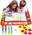 Doodle tappeto magico/Acqua Disegno Pittura scrittura Mat,xhforever 80 cm*60 cm creative acqua disegno pittura Mat + 4 Magic Pen/acqua disegno di ricambio Doodle Mat Children Learning Toys