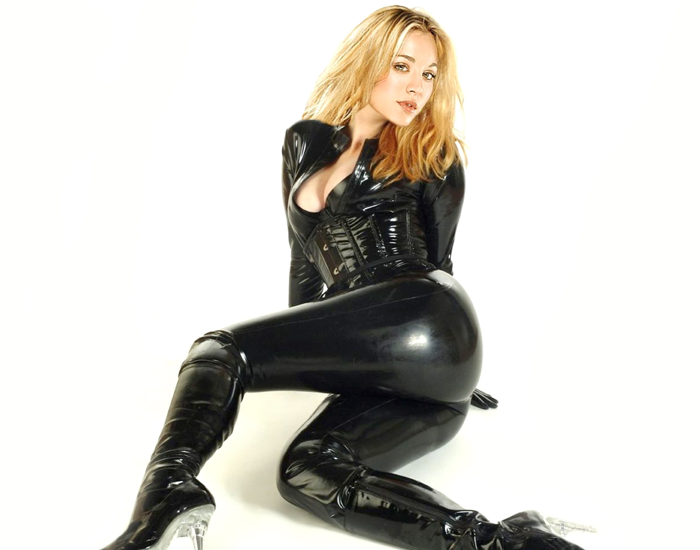 Kaley Cuoco Leather