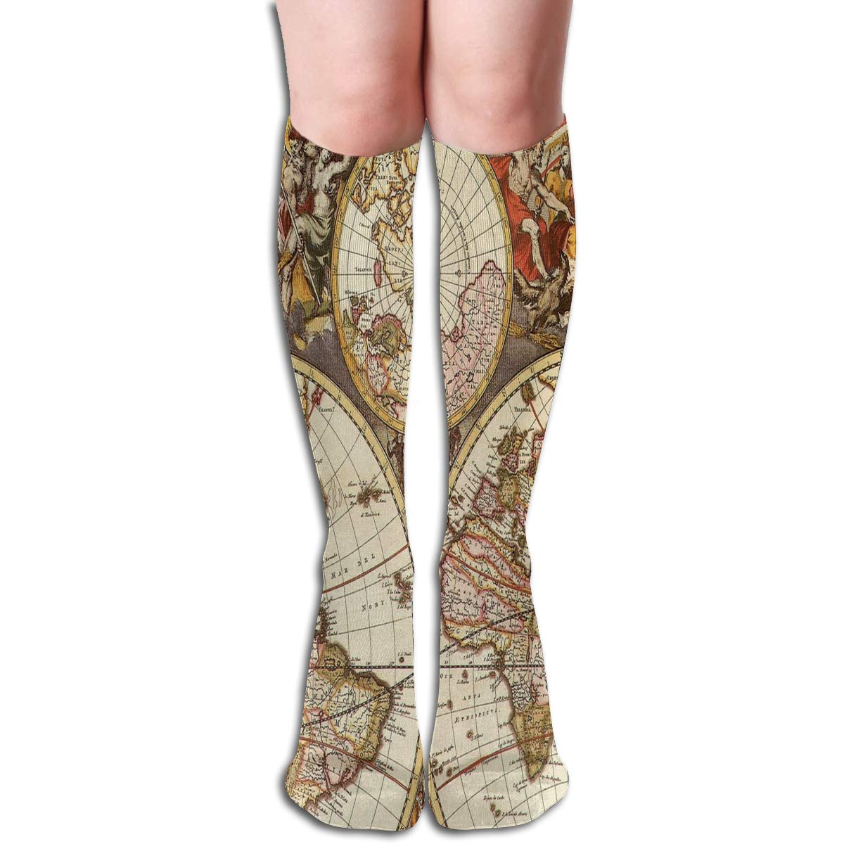 Girls Socks Over Knee Vintage Movie Clapboard Tape Winter Custom Personalized