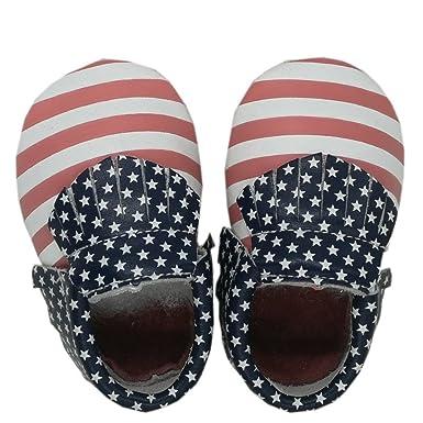 ❤ Zapatos de bebé con Flecos de Cuero con Estrella,Baby Toddler Splice Moccasin Stars Print Stripe Tassel Shoes Zapatos de Cuero Absolute: Amazon.es: ...