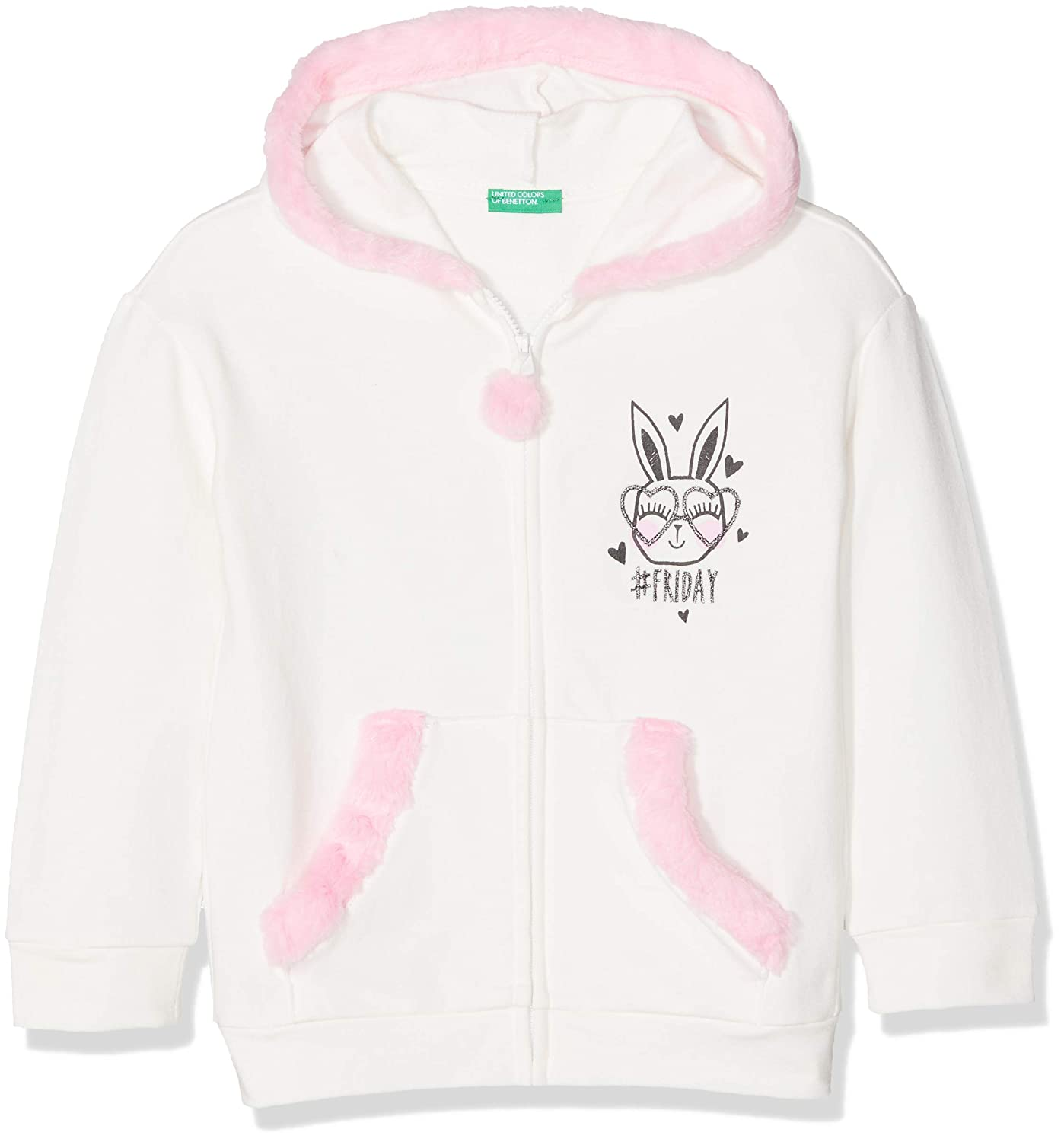 United Colors of Benetton Jacket W/Hood L/S, Giacca Bambina 3ZM9C51UP