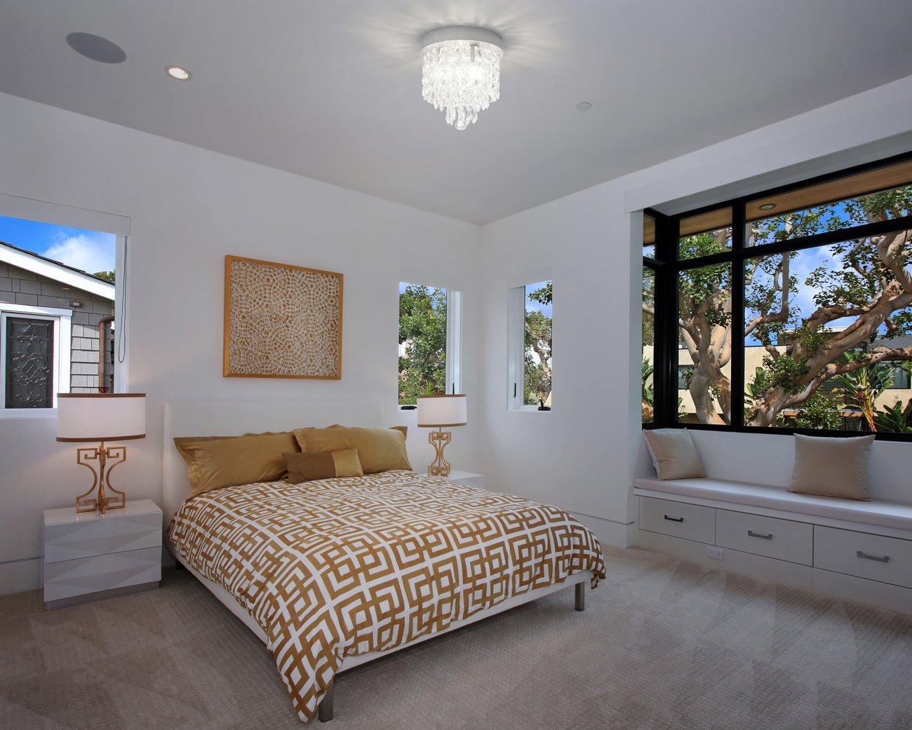 SHINE HAI Crystal Chandelier, 3-light Modern Flush Mount Ceiling Pendant Light H9.45'' X W8.66'' for Bedroom, Living Room, Dining Room, Kitchen, Hallway by SHINE HAI (Image #6)