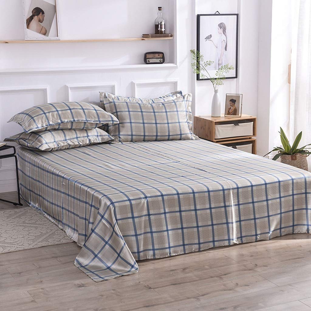 C Bedding Fitted Sheet Well Made Bedsheets (color   B)