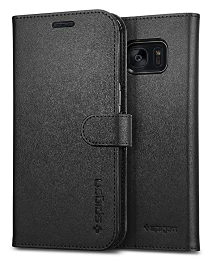 pretty nice 96d10 4bd0b Spigen Wallet S Designed for Samsung Galaxy S7 Edge Case (2016) - Black