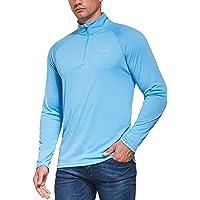 Ogeenier Uv-shirt met lange mouwen voor heren, UPF 50+ uv-bescherming, lange mouwen, loopshirt, sweatshirt met 1/4 rits…