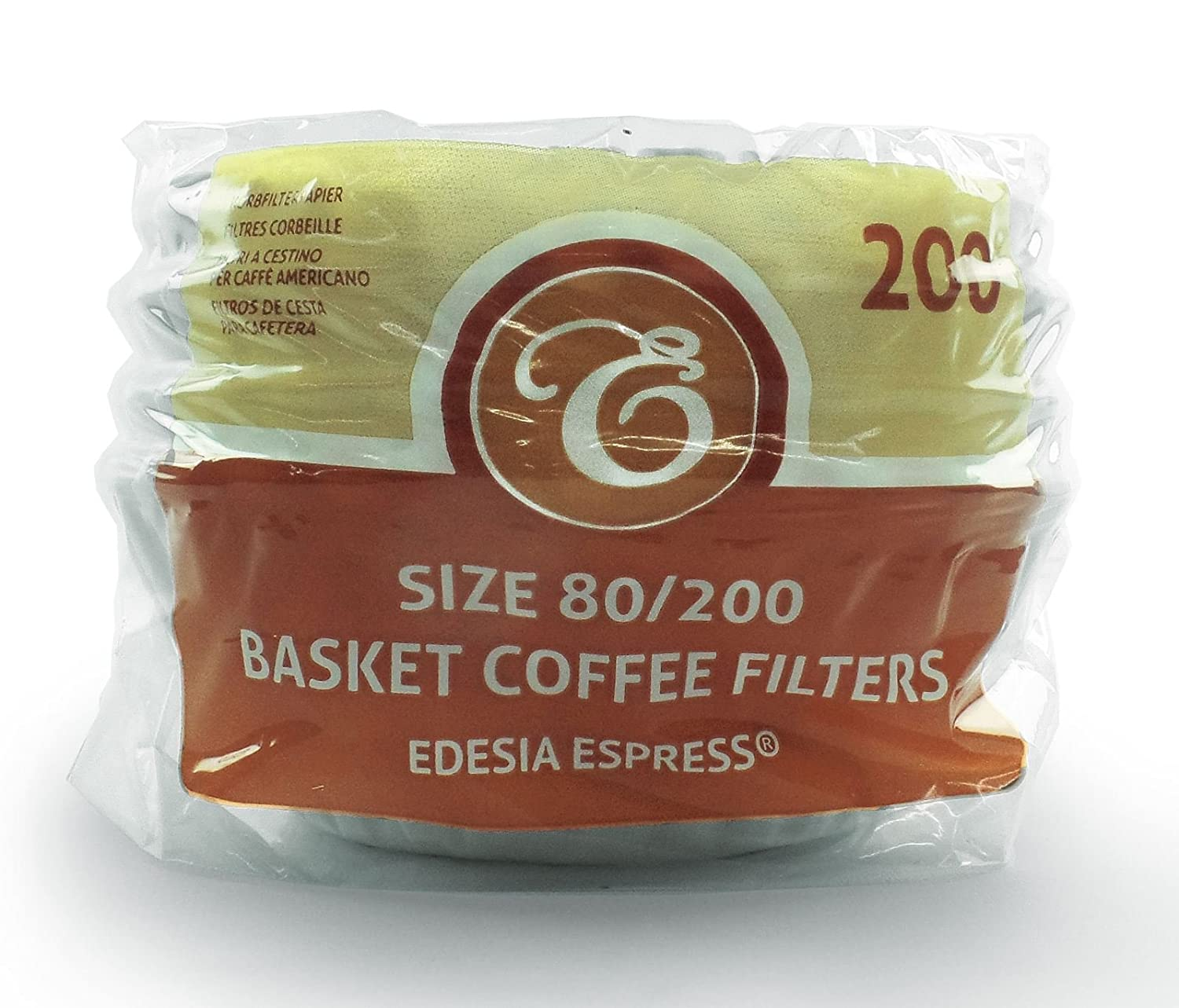 200 x 2 Pint/8 to 12 Cup Basket Coffee Filter Papers by EDESIA ESPRESS