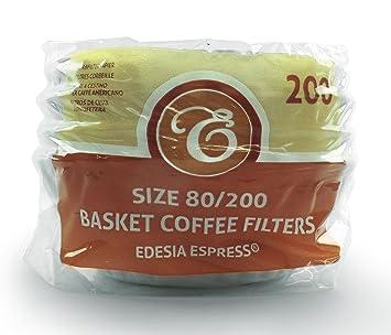 EDESIA ESPRESS - Pack de 200 filtros de papel para café - Tipo cesta - De 8 a 12 tazas - 80/200 mm: Amazon.es: Hogar