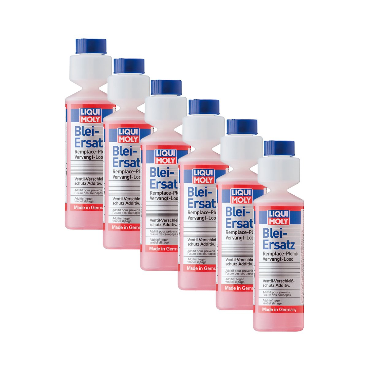 Liqui Moly Additif de carburant remplacement plomb, lot de 6 flacons de 250 ml, avec valve de protection