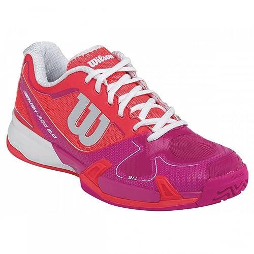 Wilson Rush Pro 2.0 W, Zapatillas de Tenis Unisex Adulto, Rojo ...