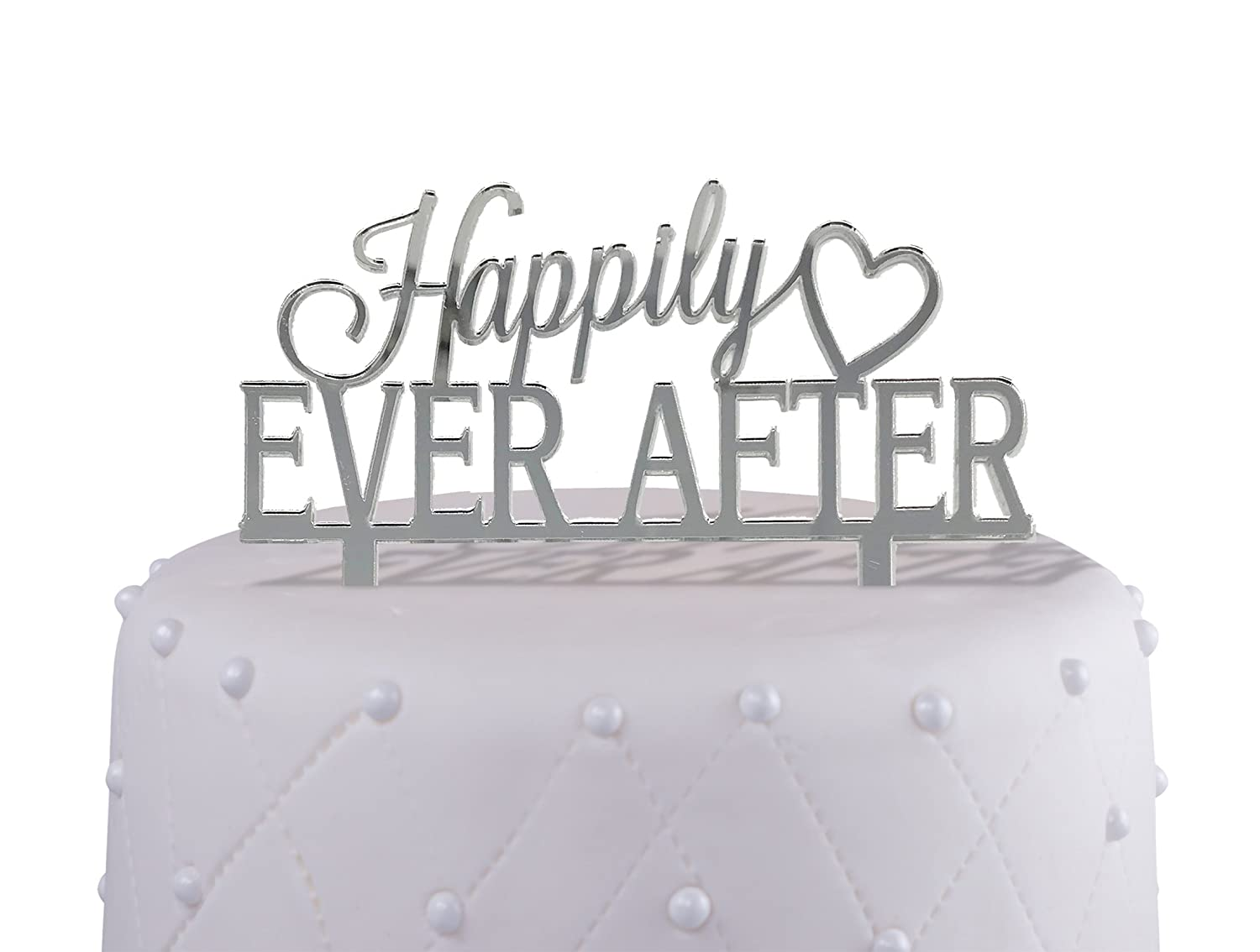 Engagement And Wedding Cake Topper Happily Ever After Acrylic