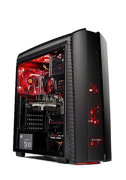 SkyTech DarkAngel Gaming Computer Desktop PC - Ryzen 5 2600 3 4GHz 6-Core  (3 9 Ghz Turbo), RX 580 4GB, 8GB DDR4 2400, 1TB HDD, VR Ready, Wi-Fi USB,