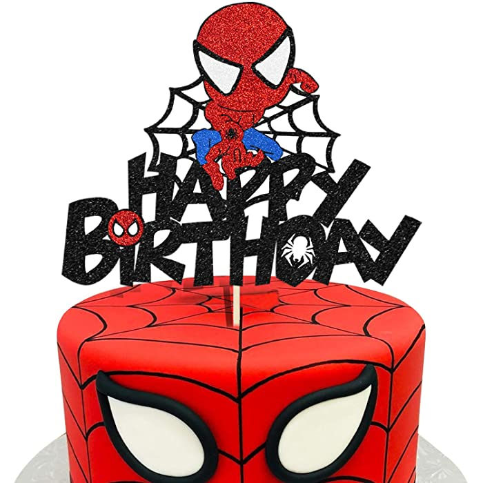 Los 9 Spidermanbirthday Cake Decor