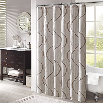 Madison Park MP70 1915 Serendipity Shower Curtain 72x72quot Ivory