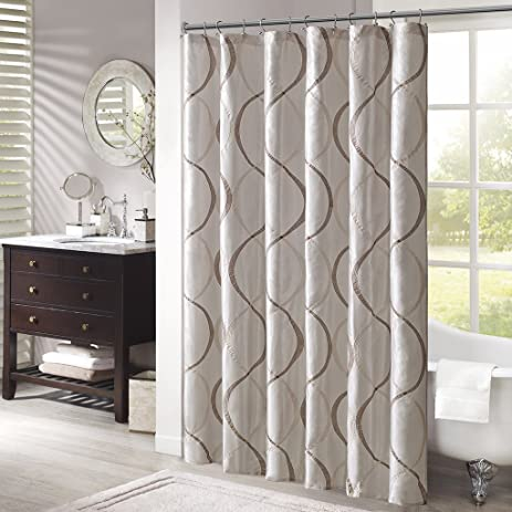 Madison Park MP70 1915 Serendipity Shower Curtain 72x72u0026quot; Ivory ...