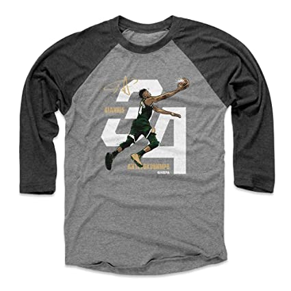 sports shoes 951e2 e193f Amazon.com : 500 LEVEL Giannis Antetokounmpo Baseball Tee ...