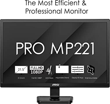 Msi Pro Mp221 Professional Monitor Flat 22 Inches Computers Accessories