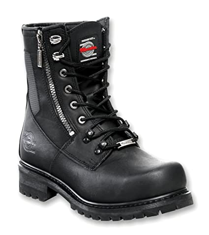 3ca7807ddd1 Milwaukee Motorcycle Clothing Company Trooper Leather Men's Motorcycle  Boots (Black, Size 12D)