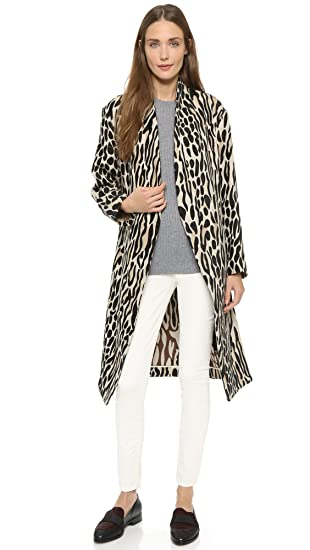 d5beedcf83 Amazon.com: By Malene Birger Women's Apponia Leopard Coat, Nature ...