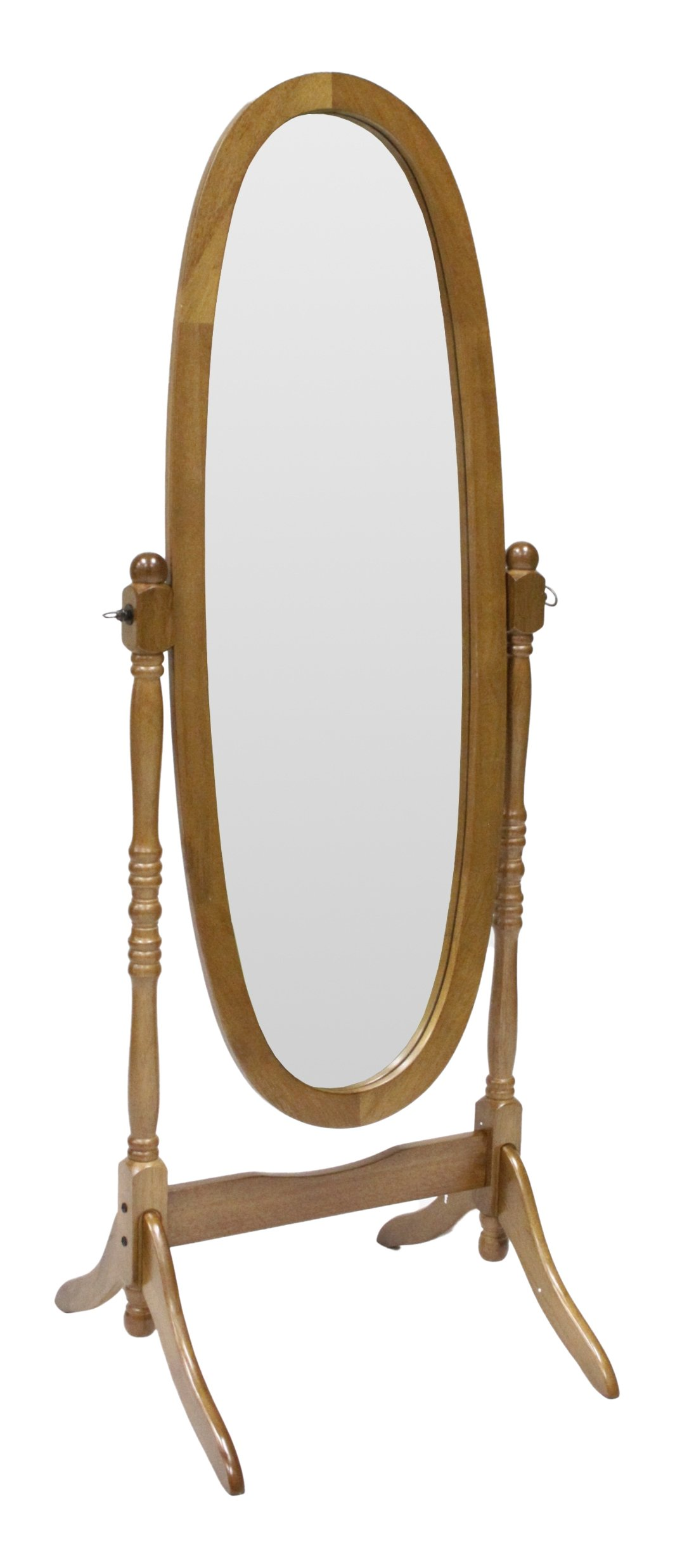 Crown Mark Cheval Mirror, Oak