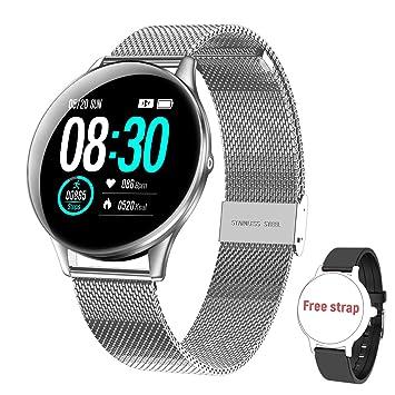 Smartwatch Reloj Inteligente, HopoFit HF05 Impermeable IP68 Podómetro Pulsómetros con Monitor de Sueño, Caloría, Notificación Llamada y Mensaje, ...