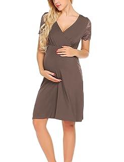 UNibelle Damen Umstandskleid Elegantes und bequemes Umstandskleid Kleid  Kurzarm 71cf63449e