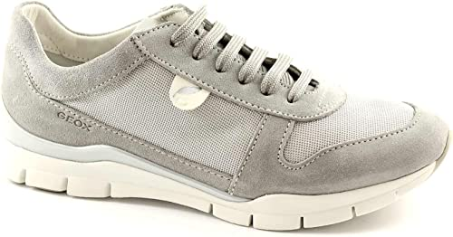 Geox D52F2A Sukie Gray Suede lace Shoes